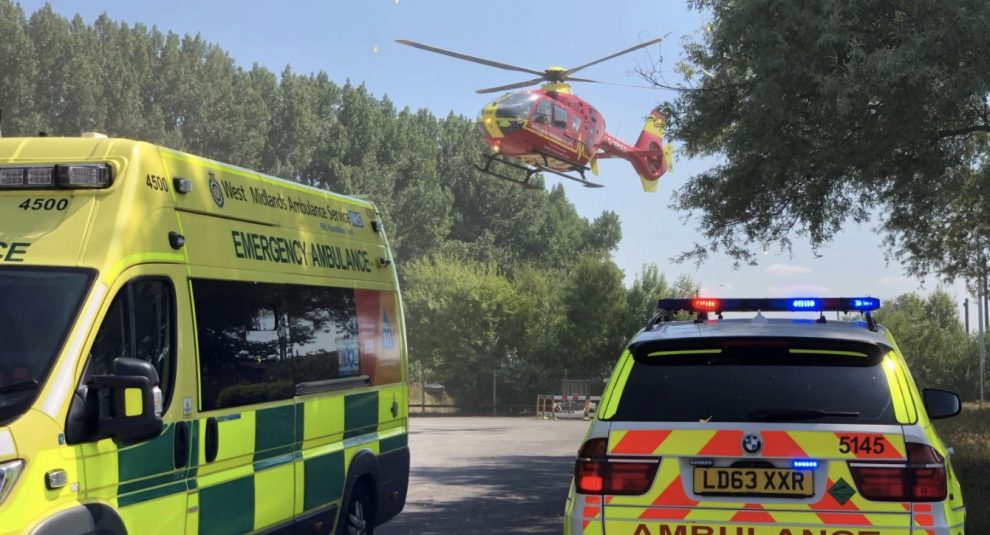 Ambulance staff worked with firefighters to rapidly extricate the man Sadly, despite best efforts, it was not possible to save him and he was confirmed dead at the scene, UKNIP