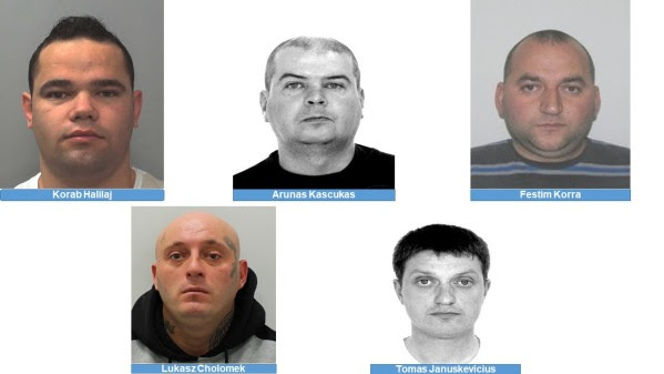 Five  foreign nationals all wanted on warrant for Extradition from the UK, UKNIP