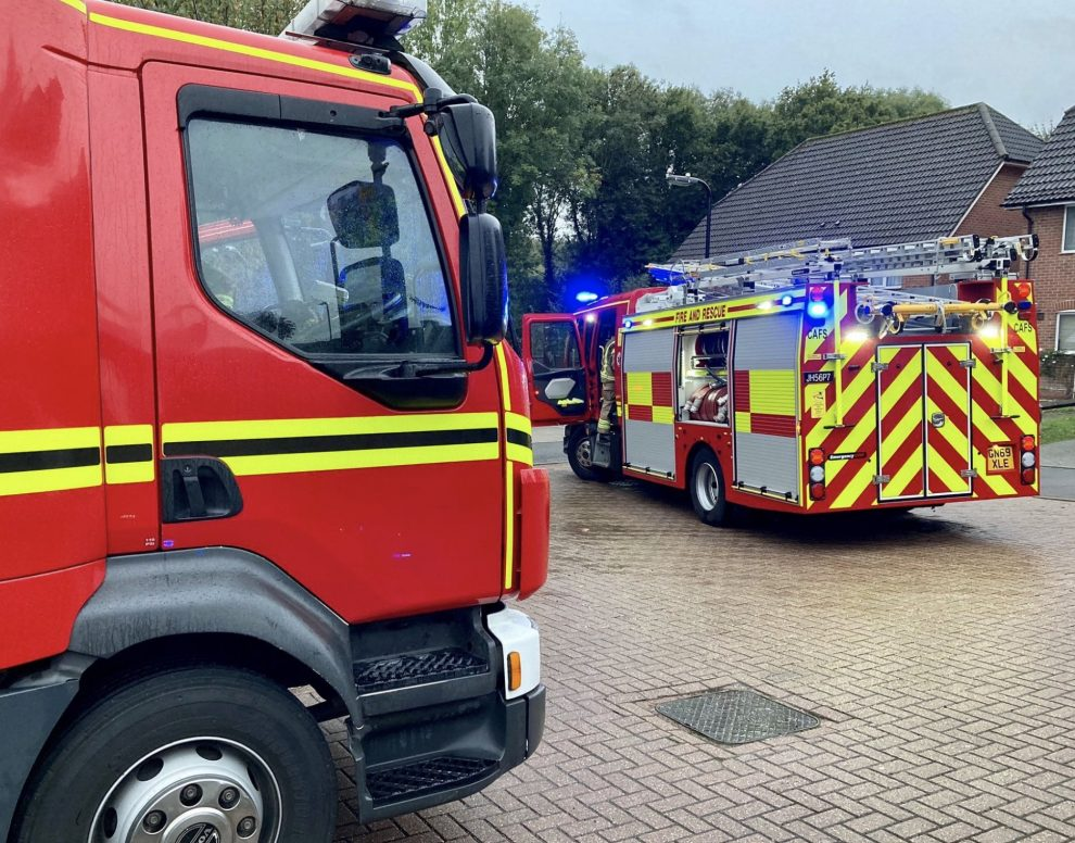 Fire crews dealing with the fire then rescued a dog stuck inside the property after a neighbour alerted emergency services seeing smoke from the property., UKNIP