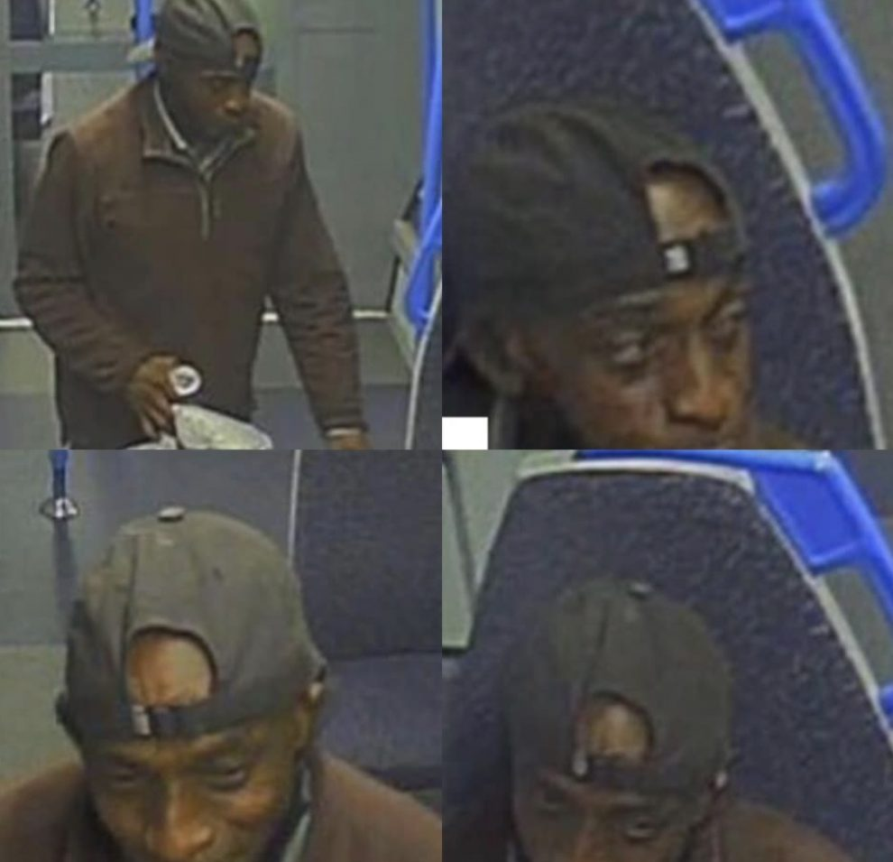 Officers investigating a sexual assault on-board a train travelling from Sevenoaks, Kent, to London are today releasing images in connection with the attack, UKNIP