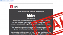 phishing email dpd