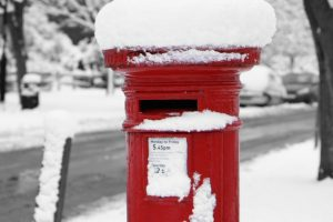 pillarbox with snow horizontal