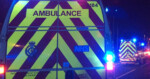 night ambulances on motorway e