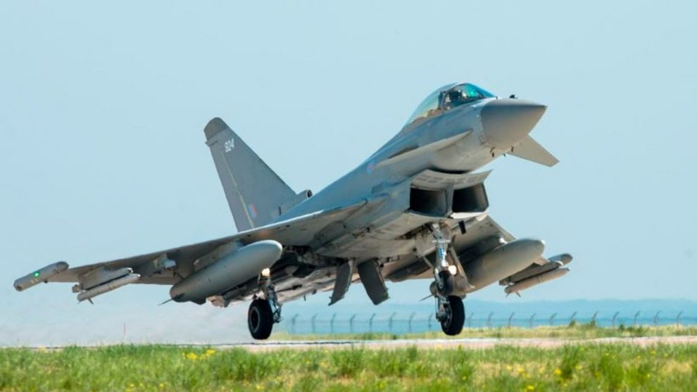 Sonic boom heard over eastern England as RAF escorts civilian aircraft
